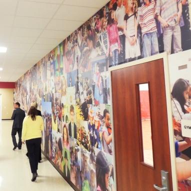 Beloit Michigan schools wall mural