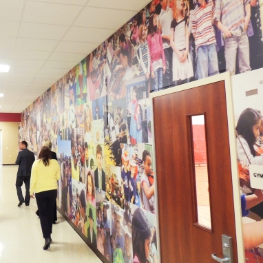 Beloit Michigan schools wall mural