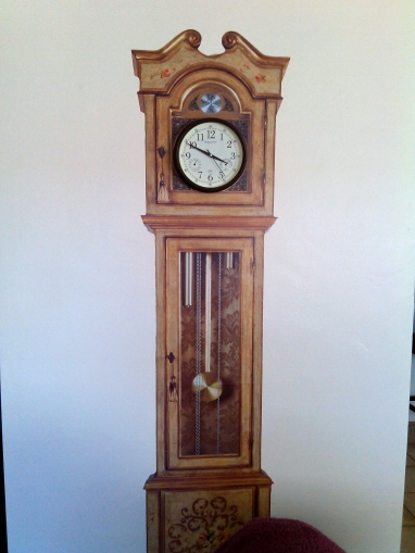 Vinyl Grandfather Clock