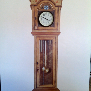 Vinyl Grandfather Clock